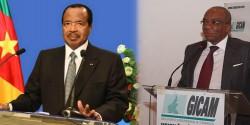 Célestin Tawamba aux côtés de Paul Biya