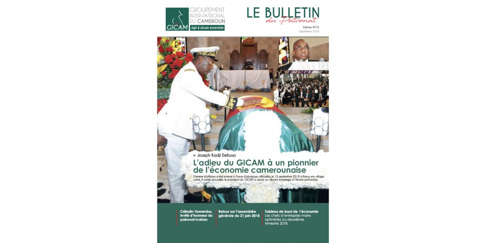 Bulletin du Patronat n°72 - Septembre 2018