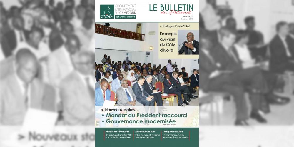 Bulletin du patronat N°73 - Décembre 2018