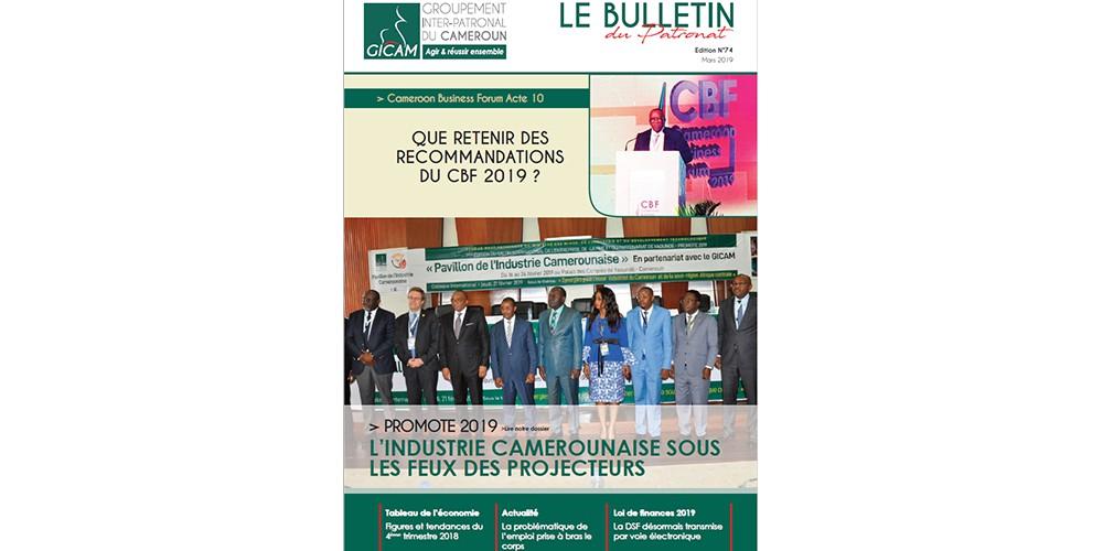 Bulletin du patronat N°74 - Mars 2019
