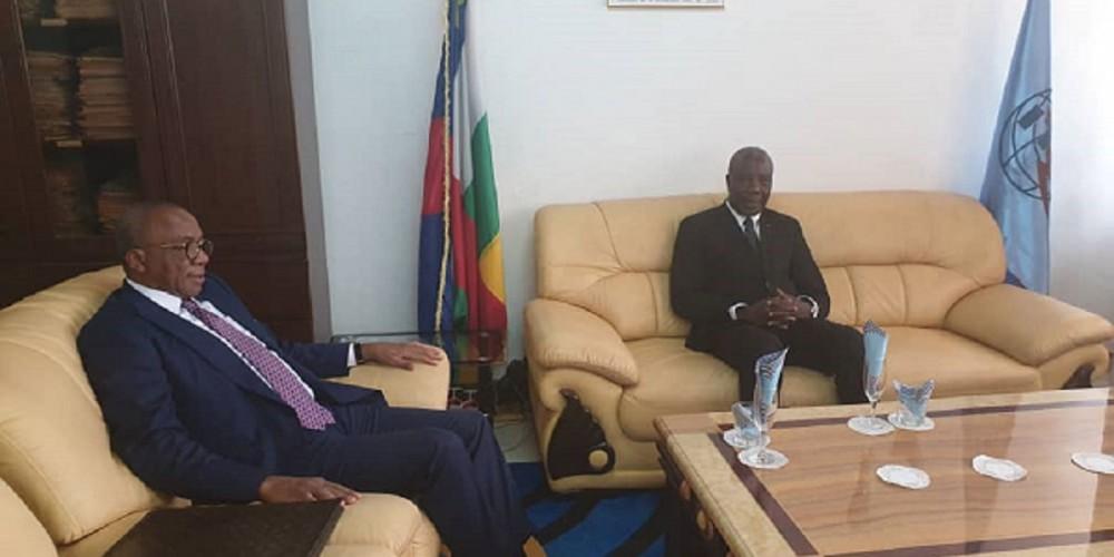 Le Président de la République Centrafricaine reçoit le Président du patronat camerounais