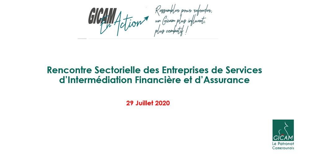 Le GICAM face aux services d'intermédiation financières et d'assurances