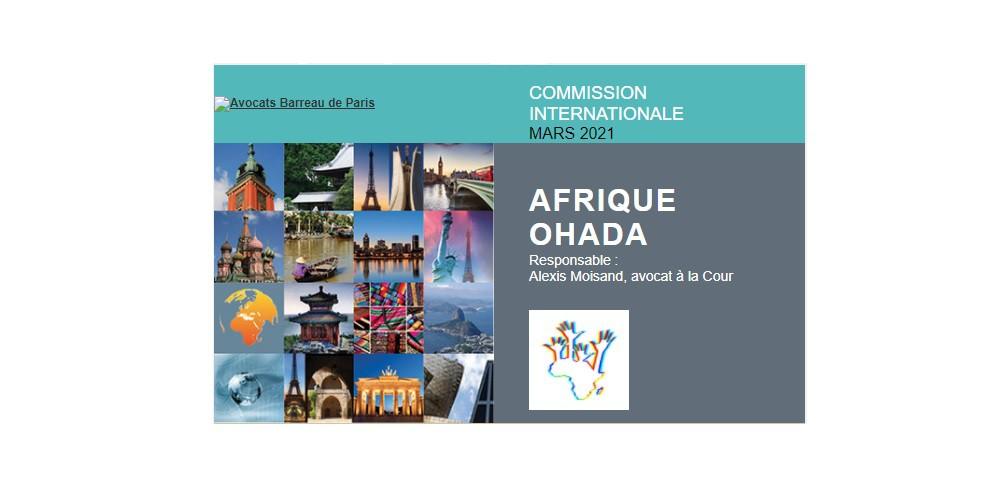 Webinaire de la Commission Ouverte Internationale Afrique OHADA